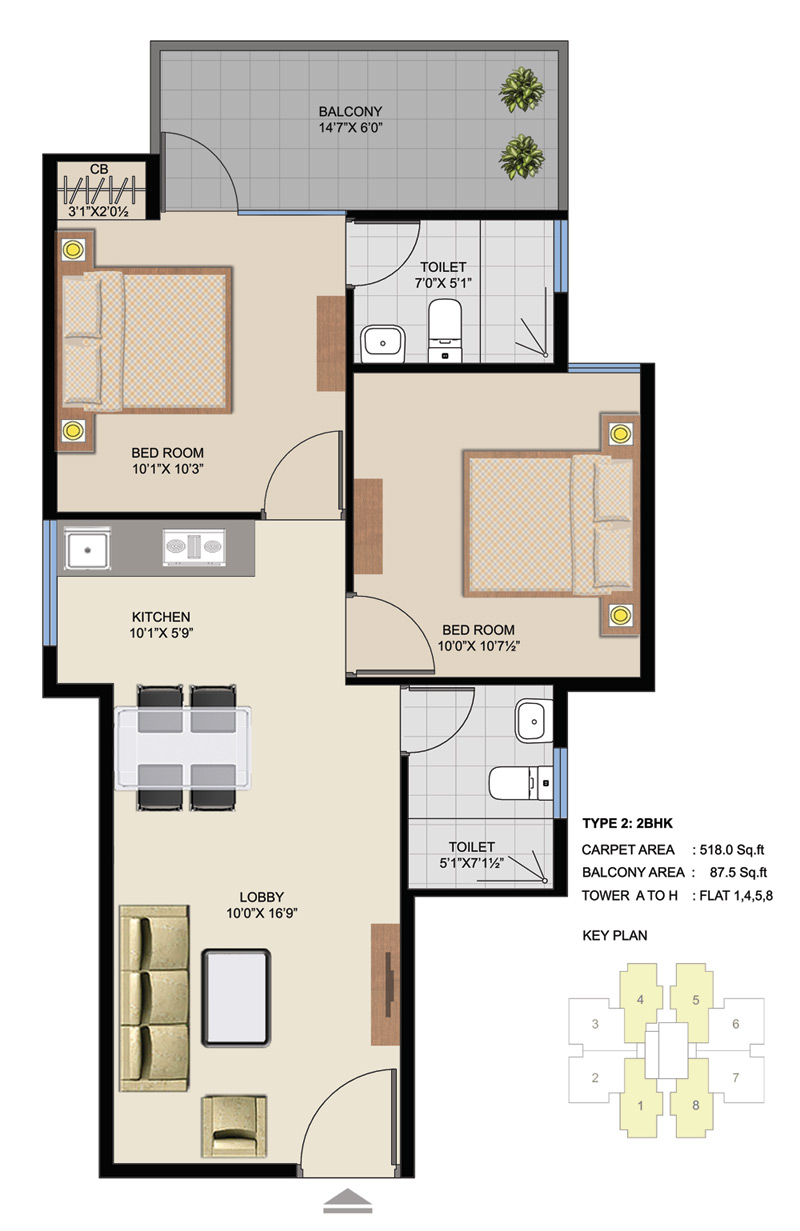 Suncity Affordable Homes Floor plans